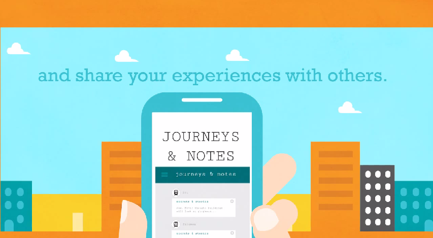 Ứng dụng Journey and Note dành cho Android do Microsoft thiết kế