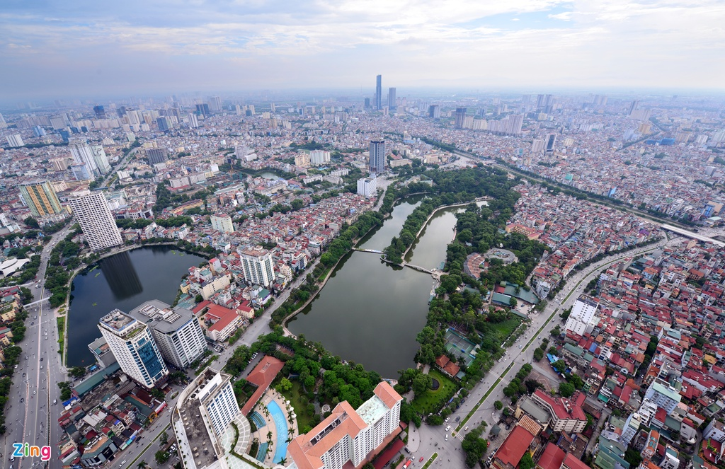 Hanoi looks modern from aerial cameras