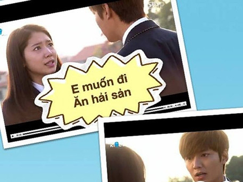 Trao luu che anh, clip an theo Kim Tan va 'The Heirs' hinh anh