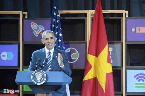 Video ong Obama lam MC trong cuoc gap gioi startup Viet hinh anh