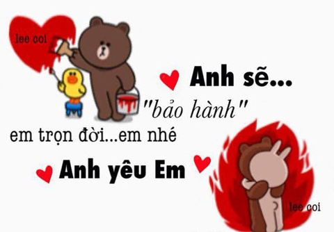 Anh che gau Brown va tho Cony hinh anh