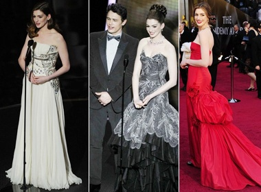 Anne Hathaway thay vay 8 lan trong dem Oscar hinh anh