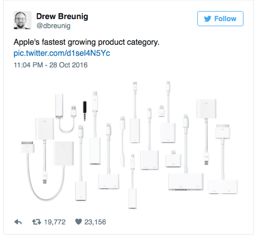 Apple's 17 dongles