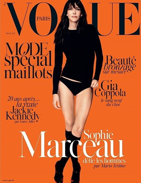 VOGUE PARIS  MODEL: Sophie Marceau  Mario Testino