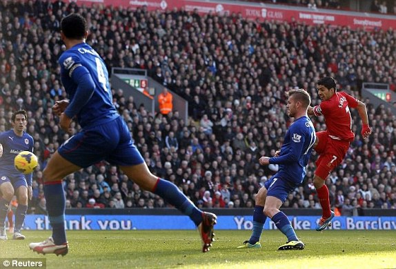 Liverpool 3–1 Cardiff: Suarez lap ky luc ghi ban hinh anh 7