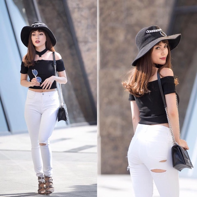 Si Thanh goi y cach mix ao crop top hinh anh 10