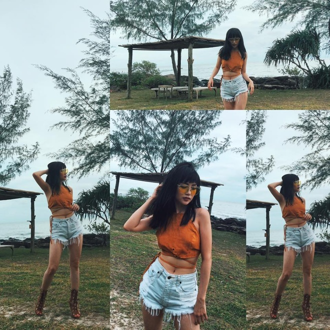 Si Thanh goi y cach mix ao crop top hinh anh 13