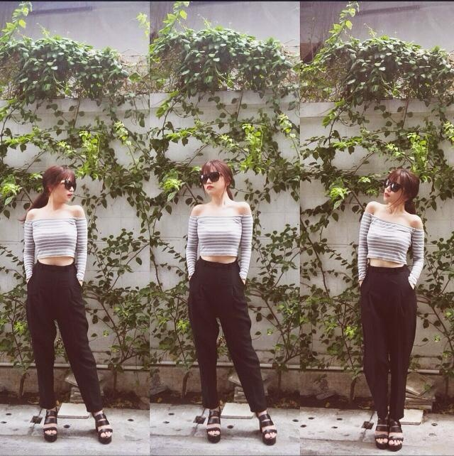 Si Thanh goi y cach mix ao crop top hinh anh 6