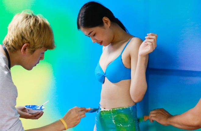 body painting hinh anh