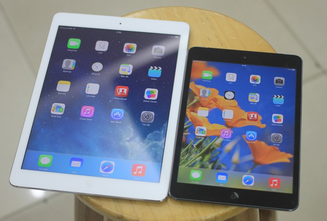 So sánh iPad Mini Retina với iPad Air