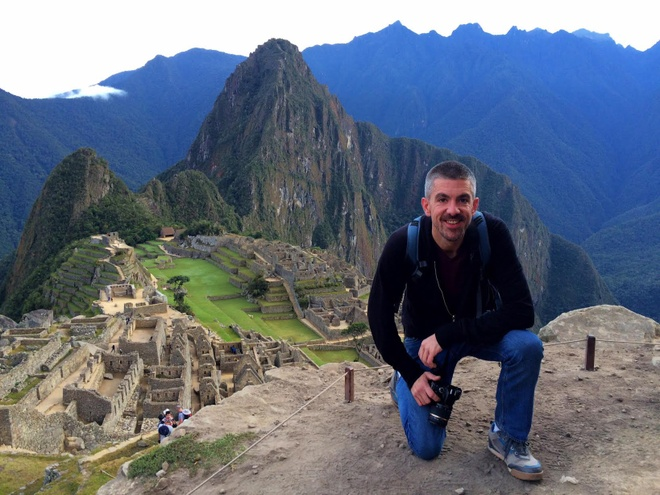 Matt Long ở Machu Picchu. Ảnh: Matt Long.