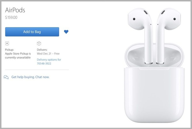 Tai nghe AirPods cho dat hang gia 159 USD hinh anh 1