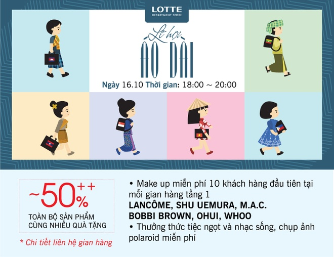 Le hoi ao dai doc dao tai Lotte Department Store hinh anh 2