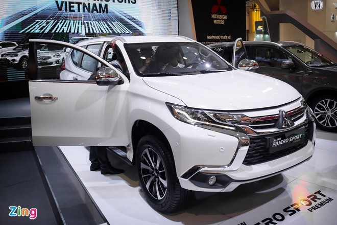 Pajero Sport 2016 gia tu 1,4 ty, canh tranh Toyota Fortuner hinh anh 1
