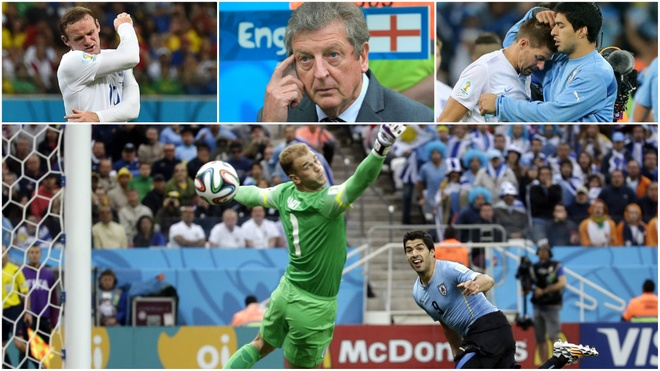 Dejection. England's second-youngest squad to play at a World Cup return home after the group stage for the first time since 1958 as Uruguay's Luis Suarez strikes twice to crush the dreams of former Liverpool team-mate Steven Gerrard. The Three Lions also lose their opening game against Italy, and draw with Costa Rica.