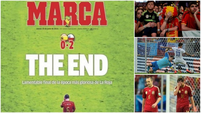 Questions. Is tiki-taka dead? Spain's first-round exit leaves fans in Madrid devastated as the defending world and European champions are well beaten by Netherlands and Chile