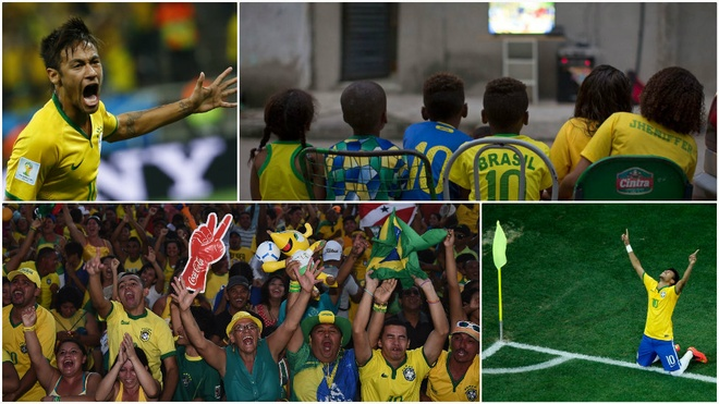 Worship. The tournament's hosts Brazil - five-time World Cup winners - pin their hopes on striker Neymar and cruise through the group stage as public adoration for the poster boy shows no sign of ending.